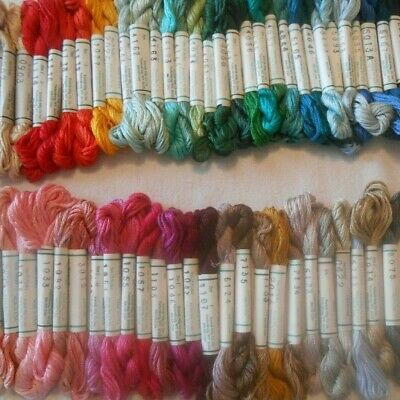 Kreinik Silk Mori  - Pack of 50 Skeins - 100% silk 5 metre Assorted Colours