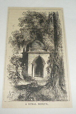small 1879 magazine engraving ~ A RURAL MOSQUE
