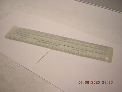 """Schaedler Precision Rule - Inches / Picas - Printer's Points / Metric - 12"""""""