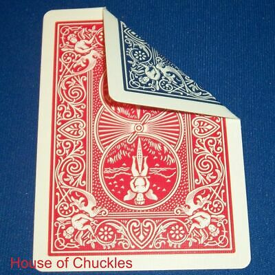 (2) Double Blue and Red Back Bicycle Gaff Playing Card Use for Card Magic Tricks