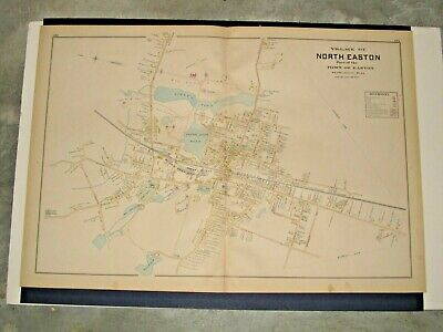 Village Of North Easton, Ma.,  1895 Map Removed From Everts & Richards Atlas