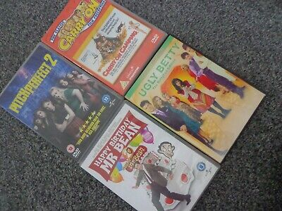 job lot of comedy dvds , carry on , ugly betty , pitch perfect , mr bean L@@K
