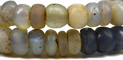 Baby Moon Opalescent Trade Beads Dutch  Africa