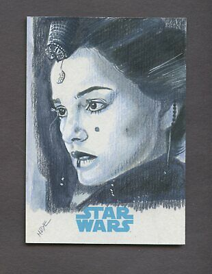 Star Wars Journey to the Force Awakens Sketch Card PADME AMIDALA MARCIA DYE