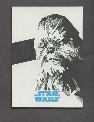 Star Wars JTTFA Journey to the Force Awakens Sketch Card CHEWBACCA TERANISHI 1/1
