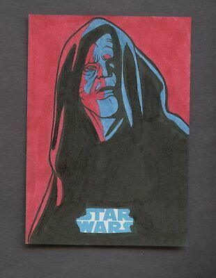 Star Wars JTTFA Journey to the Force Awakens Sketch Card EMPEROR RICH MOLINELLI