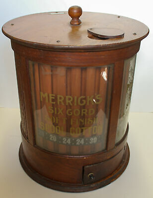 Antique Country Store Merrick's Oak Cylinder Round Spool Cabinet – July 20, 1897