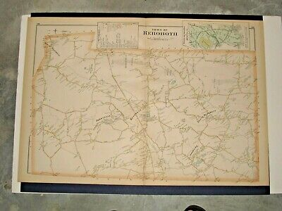 Rehoboth, Ma.,  1895 Map Removed From Everts & Richards Atlas, Not A Reprint