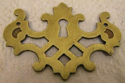 5 Vintage Brass Escutcheons Key Hole Cover Cabinet Furniture Hardware Escutcheon