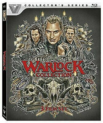Warlock 1-3 Collection (Blu-ray Disc, 2017, 3-Disc Set) New Horror
