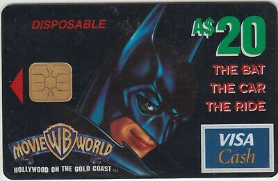 Warner Brothers Movie World Australia $20 Batman reward VISA chip card redeemed