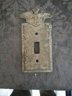 antique brass light switch cover