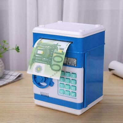 Electronic Piggy Bank ATM Password Money Coin Automatic Safe Saving Box Kids US