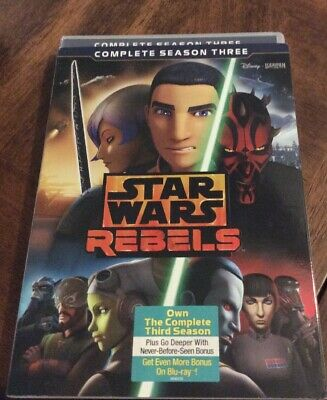 Star Wars Rebels: The Complete Season 3 DVD AUTHENTIC