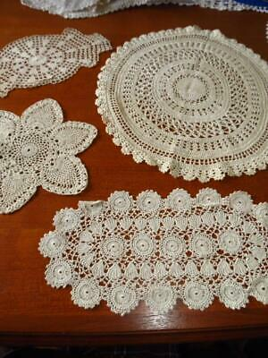Vintage doilies - x 4 assorted  # 6