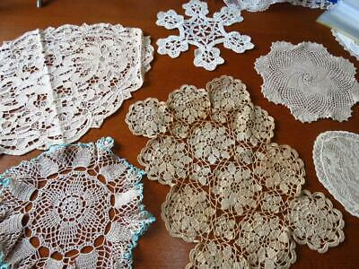 Vintage doilies - x 6 assorted  # 10