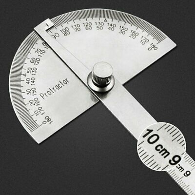 Stainless Steel 180 degree Protractor Angle Finder Arm Rotary Measuring Ruler 1N