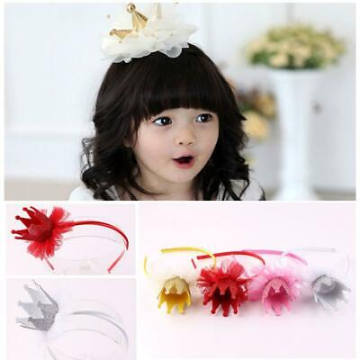 Lovely Toddler Baby Princess Crown Imperial Bowknot Headband Hairband Head Wrap