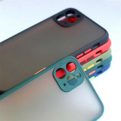 Hybrid Matte Case for iPhone 11 Pro XS Max XR X 7 8Plus Camera Prtotective Cover