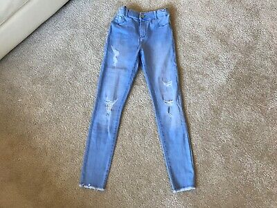 River Island - Girls  'Skinny' Ripped Blue Jeans (11Years) Very Good Condition