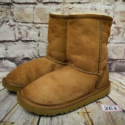 Junior UGG Australia Classic Short Tan Pull On Ankle Winter Boots UK 2 EUR 32