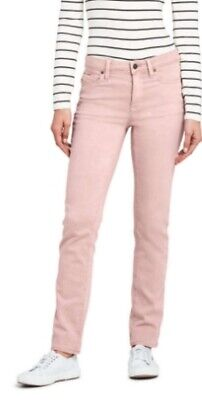 Lands End Womens 4 Pink Corduroy Mid Rise Stretch Straight Leg Pants NWT