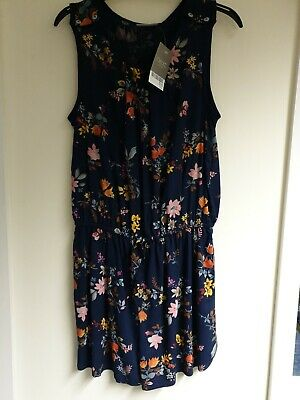 Girls Next Navy Floral Playsuit Aged 11 Years Bnwt.