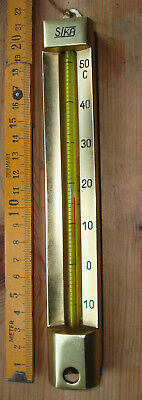 Thermometer. Messing.  -10 bis +50