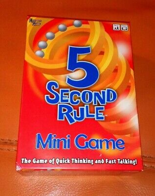 5 Second Rule Mini Game Complete Nice Condition Fully Complete 2016 Family Fun