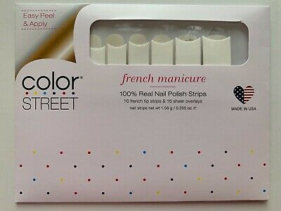 NEW Color Street Nail Polish Strips French Manicure MEET ME IN PARIS Free Ship