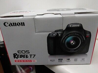 NEW Canon EOS Rebel T7 24.1 MP Digital SLR Camera - Black (Kit with 18-55 Lens)