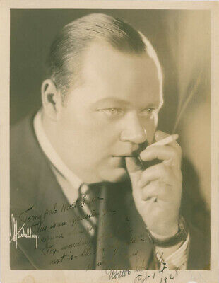 "Roscoe ""Fatty"" Arbuckle - Autographed Inscribed Photograph 02/01/1928"