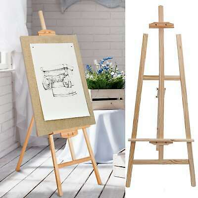 Studio Easel Artist Art Craft Paintings Display Pine Wooden Tripod Stand 1.5m