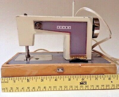 Sears Kenmore TINY 7-Inch Electric Sewing Machine Hard Case WORKS West Germany