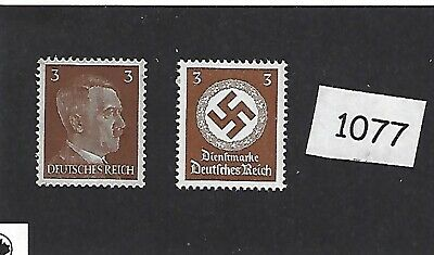 Adolph Hitler & Party emblem postage stamps / MNH Third Reich era Germany WWII