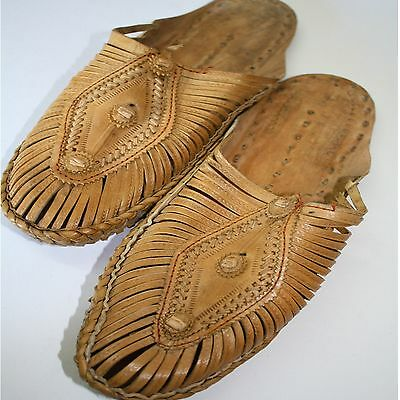 Shoes Sandals Natural Leather Size 37- 44 Indian Leather Larp Hippie Slippers