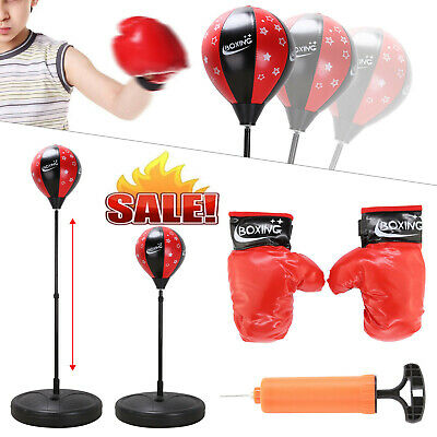 Junior Boxing Set Kids Punch Bag Ball Training Free Standing Punching Bag Boys
