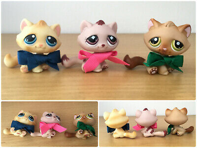 ❤️Authentic Littlest Pet Shop #194 #122 Monopoly No number LPS Tabby Kitty Cat