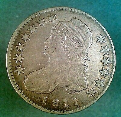 1811 Small 8 O-109 Capped Bust Silver Half Dollar (020)