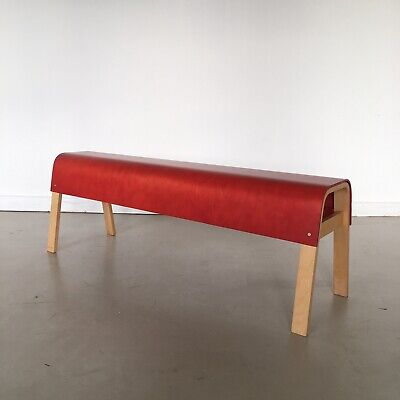 RARE Vintage IKEA Bent Plywood Bench Alvar Alto Mid Century Style Pair Available