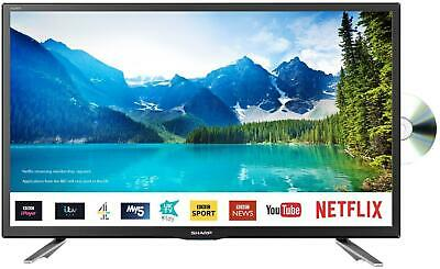 "(Open Box) Sharp LC-24DHG6131KF 24"" HD Ready Smart LED TV/DVD Combi HD Ready"