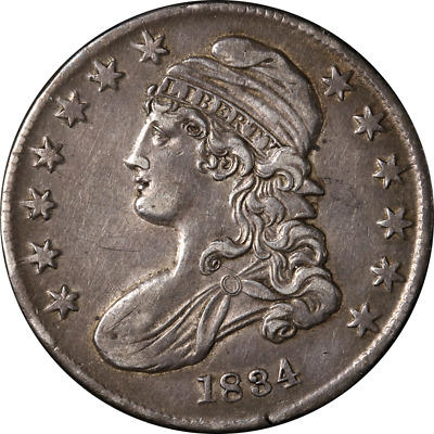 1834 Bust Half Dollar Small Date & Small Letters Choice XF+ 0-114 R.1