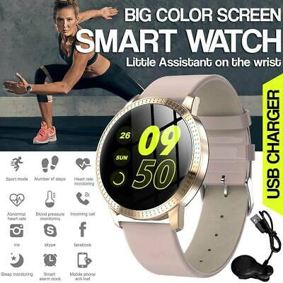 HD Bluetooth Smart Watch Heart Rate Fitness Bracelet For iPhone Android Samsung