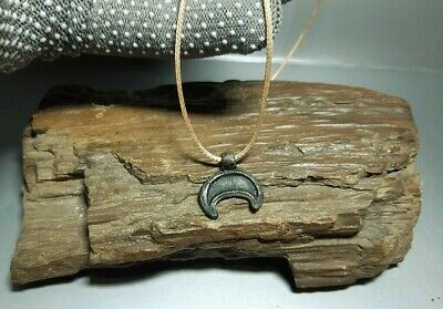 Ancient Viking Bronze Pendant Lunula Moon Kievan Rus Viking 9-12 cen.AD#2654