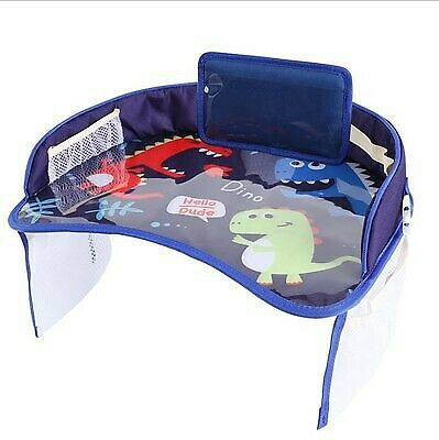 Kids Car Seat Travel Tray Safety Baby Play Eat Table Board Waterproof Cartoon