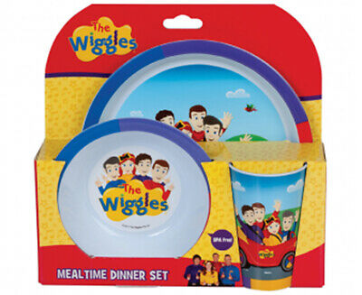 The Wiggles Kids Mealtime Feeding 3-Piece Dinner Set