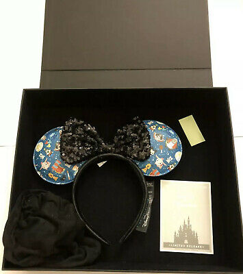 New Disney Parks Designer Collection Loungefly Minnie Mickey Mouse Ears Headband