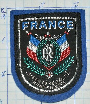 France Flag French Liberty Equality Fraternity Vintage Woven Souvenir Patch