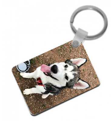 Personalised Photo Keyring, custom keychain, double sided print, 2 photos / text