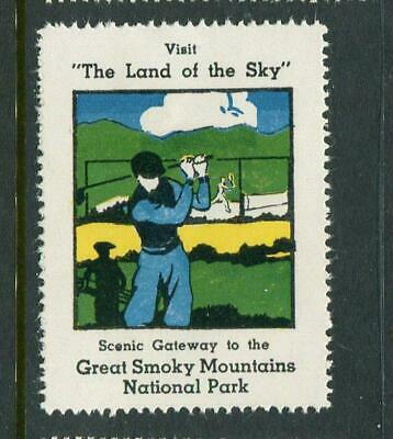 Golfers Land Of The Sky Great Smokey Mountains Reklamemarke Poster Stamp